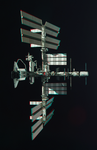 3D Anaglyph of ISS with docked Shuttle by Nathanial-BB