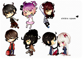 chibis everywhere by K0ii