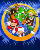 Looney Marios Banner by FJC92