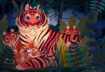 Mama Tigress and her Cubs by Jazzekat