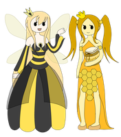 Adventure Time OC- Bee Princess and Honey Princess by Yuumeee