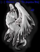 Winged wolf by Shadowstar310