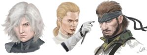 Raiden, Boss and Snake/Big Boss by Al-Muhajir