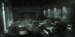 Thief - Asylum Mess Hall by MatLatArt