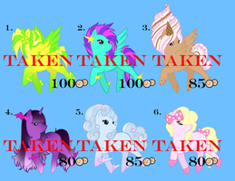 Pony Adoptables -sold- by Kuro-Productions