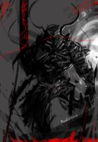 Lu Bu Armored Evolution   Fan Art by benedickbana