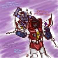 Rumble and Starscream by liliy