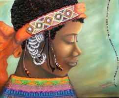 African lady 6 Xhosa by SamanthaJordaan