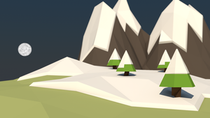 Low Poly Snow Scene by ImadEdd