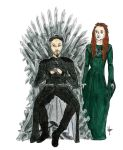 Pretty Picture (Petyr Baelish on the Iron Throne) by nanabarbare