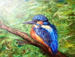 Kingfisher Painting by RubyWing