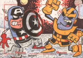 MGB: Captain America vs. Thanos by thecheckeredman