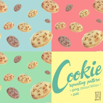 [Stock] Pastel Cookie Pattern Set by dimawari