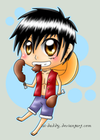 Chibi Luffy by Isi-Daddy