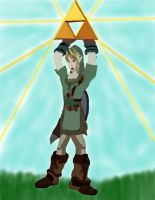 Link finding the triforce by daylover1313