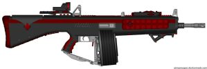 AA-12-Tactical (Fully Automatic Shotgun) by Lord-DracoDraconis