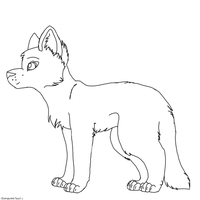 Free Cat/Wolf lineart~ by SpazMutt