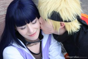 NaruHina - Kiss on the cheek by Wings-chan
