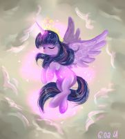 Twilight Sparkle alikorn by OleniAbrama