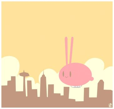 Rabbit in the Sky by boum