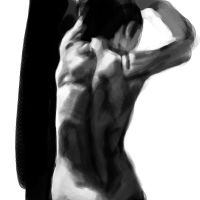 Standing Nude Stretching, from Behind by Jack-Kaiser