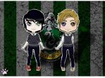 Luces and Mike chibi by toanotheruniverse
