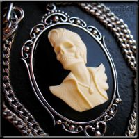 Ivory Skelvis Necklace by Horribell-Originals