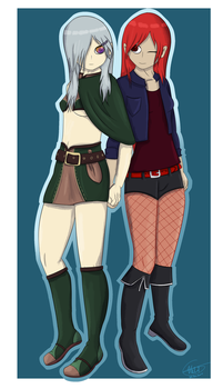 Aryna and Yomi by Nalissia