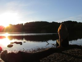 Looking at the sunset-Loch of Clunie by Phant94