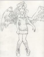 2007 Winged Girl by ArcaneAvis