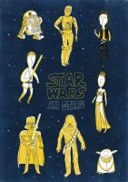 Star Wars All Stars by artmac