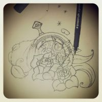 clock and roses by Mymy-La-Patate