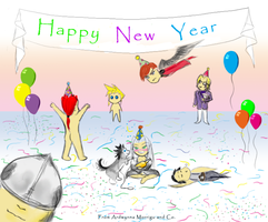 Crisis Core New Year by Ardwynna-Morrigu