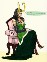 Slightly Animu Lady Loki by PhantomessTerabithia