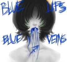 Blue Lips by 333KittyLover333