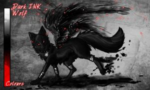 Dark Ink Wolf Auction CLOSED by Snow-Body
