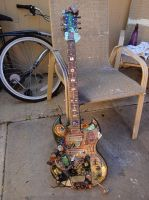 Mixed Media Steampunk Guitar by jenkiddo