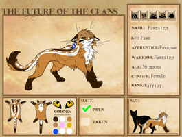Future of the Clans App- Fawnstep by Healehwolf
