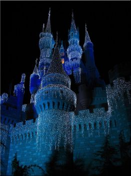 Cinderlla Castle Lit at Night by WDWParksGal-Stock