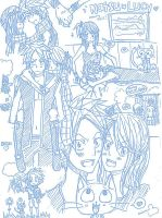 Natsu x Lucy :sketches: by arisan-san