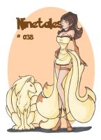 Ninetales-girl ( # 038) by LadyAstrogah