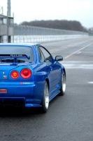 Skyline R34 GTR: Take off by Vipervelocity