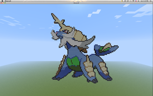 Minecraft Pixel - Samurott by Gem-A-Knight