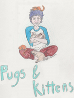 Pugs and Kittens by axalendra