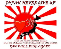 Japan Never Give Up by Kujamie