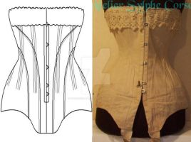 Ref L Long line antiquecorset by AtelierSylpheCorsets