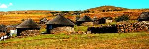 Houses of the Basutho by ryanwaff