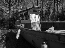 Boat in the Woods by Xs9nake