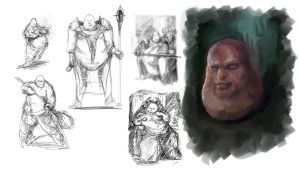 Bloodsports 8 : Shalazar the Obese Wizard - WIPs by M0nkeyBread