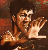 Bruce Lee by Parpa